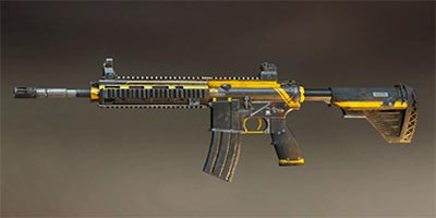 M416 PUBG Mobile Skin: Yellow Stripes - zilliongamer
