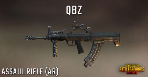 سلاح لعبة ببجي رشاش Qbz