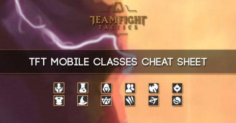 TFT Mobile Classes Synergies Cheat Sheet