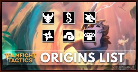 TFT Set 4.5 Origins List