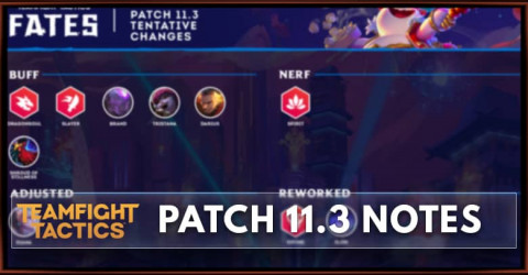 TFT Patch 11.3 Notes Champions, Items, Traits Buff, Nerf, Adjust, & Rework