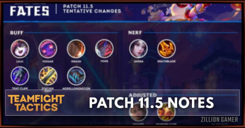 TFT Patch 11.5 Notes Champions & Items, Buff, Nerf, & Adjust