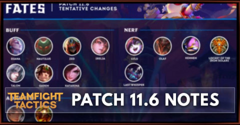TFT Patch 11.6 Notes Champions, Traits, & Items Buff, Nerf, & Adjust