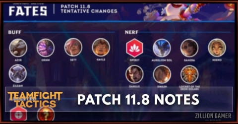 TFT Patch 11.8 Notes Champions, Traits, & Items Buff, Nerf, & Adjusted
