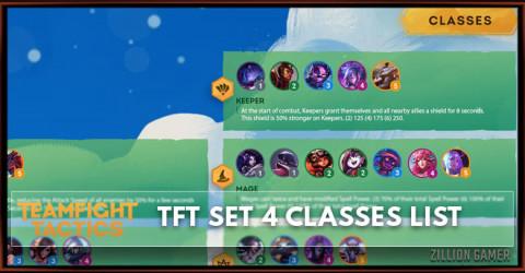 TFT Set 4 Classes List