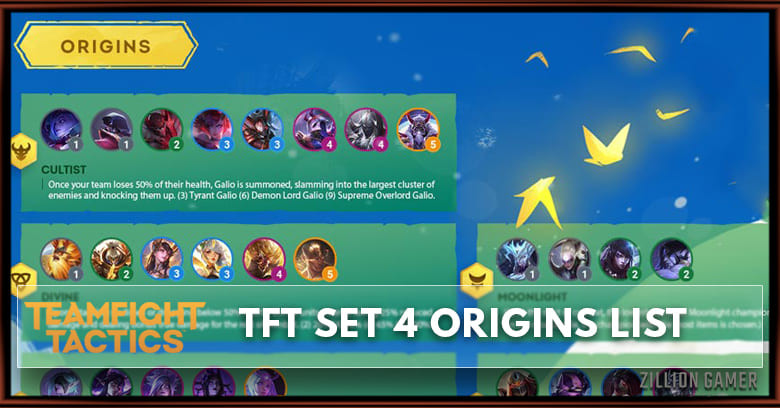 TFT Mobile Origins Cheat sheet Set 4 - zilliongamer