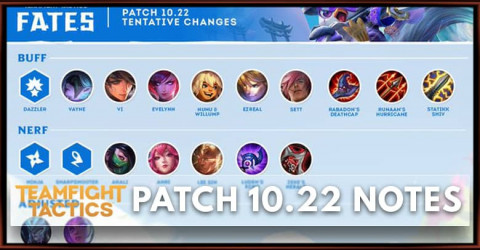 TFT Patch 10.22 Notes Champions, Items, Traits Buff, Nerf & Adjust