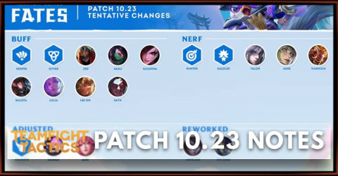 TFT Patch 10.23 Notes Champions, Items, Traits, Buff, Nerf Adjusted, & Reworked