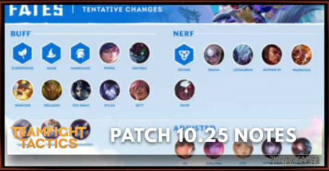 TFT Patch 10.25 Notes Champions, Items, Traits Buff, Nerf, & Adjust
