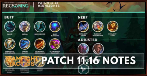 TFT Patch 11.16 Notes Champions, Traits, & Items Balance