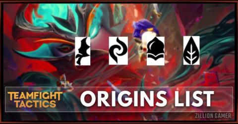 TFT Set 5 Origins List