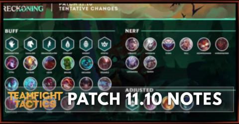 TFT Patch 11.10 Notes Champion, Trait & Items Balance