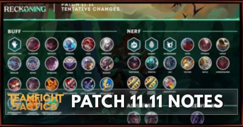 TFT Patch 11.11 Notes Champions, Traits, & Item Balance