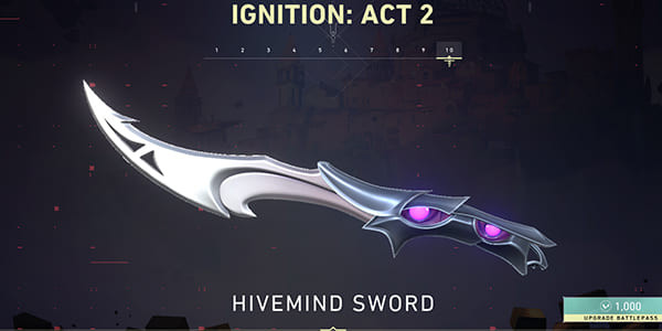 Act 2 Battle Pass Skin: Hivemind Sword | Valorant - zilliongamer