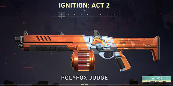 Act 2 Battle Pass Skin: Polyfox Judge | Valorant - zilliongamer