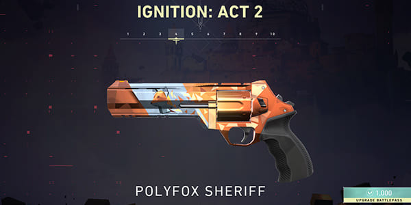 Act 2 Battle Pass Skin: Polyfox Sheriff | Valorant - zilliongamer