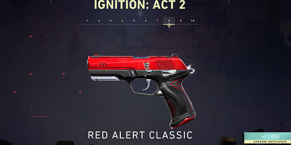 Act 2 Battle Pass Skin: Red Alert Classic | Valorant - zilliongamer