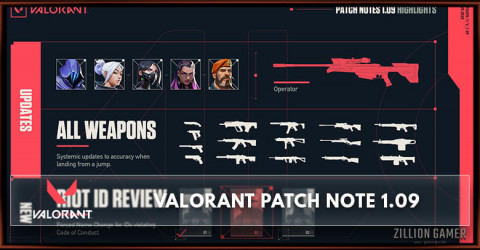 Valorant Patch Notes 1.09: Operator Nerf & Agent Nerf