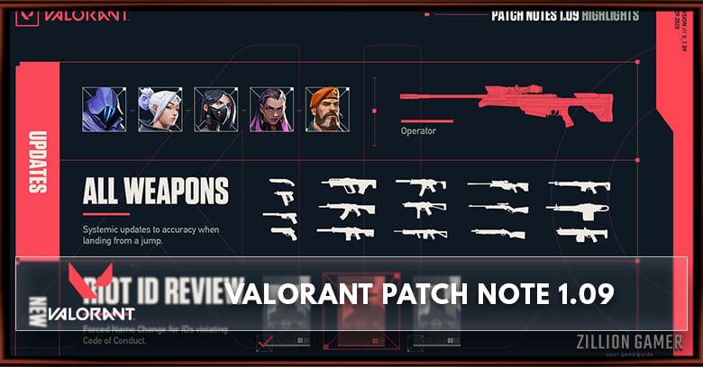 Valorant Patch Notes 1.09 - zilliongamer