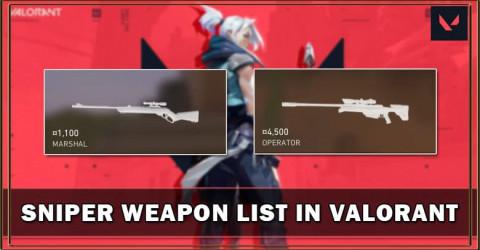 Valorant Sniper Weapon List