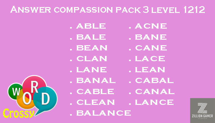 compassion-pack-3-level-1212-word-crossy-answer | zilliongamer-your-game-guide