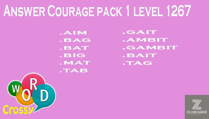Word Crossy Level 1267 Courage Answer | Word Crossy | Zilliongamer your game guide