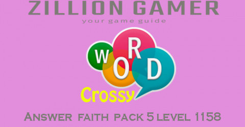 Word crossy level 1158