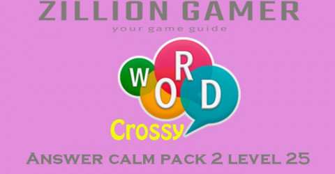 Word crossy level 25