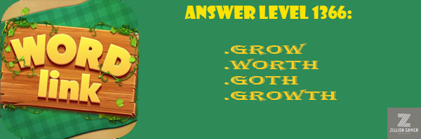 Answer Levels 1366 | Word Link - zilliongame your game guide