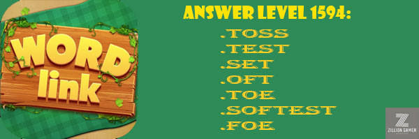 Answer Levels 1594 | Word Link - zilliongame your game guide