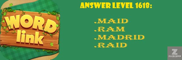 Answer Levels 1618 | Word Link - zilliongamer your game gudie