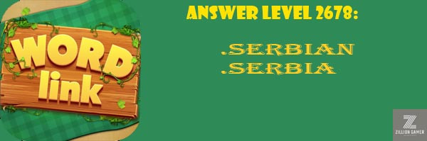 Answer Levels 2678 | Word Link - zilliongamer your game guide