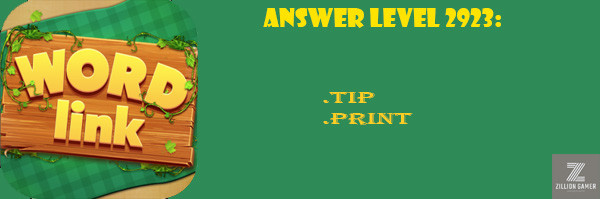 Answer Levels 2923 | Word Link - zilliongamer your game guide