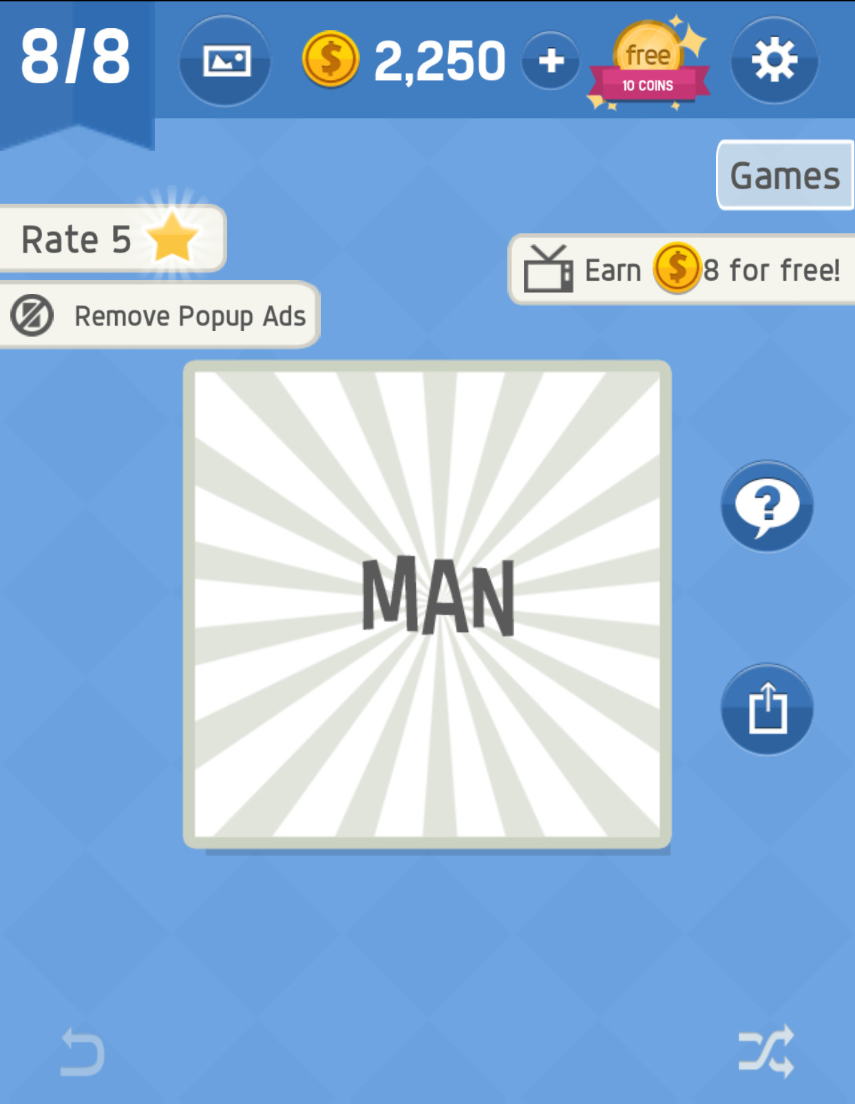 Game Pack 4 Level 8 Answer in Word tricky - zilliongamer your game guide