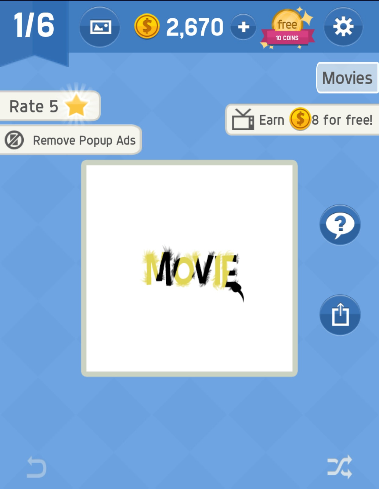 Movie Pack 5 Level 1 Answer Word Tricky - zilliongamer your game guide